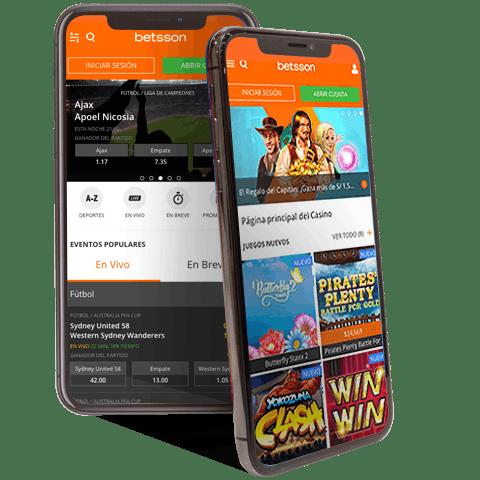 Descarga la aplicacion movil de Betsson para Android o iPhone