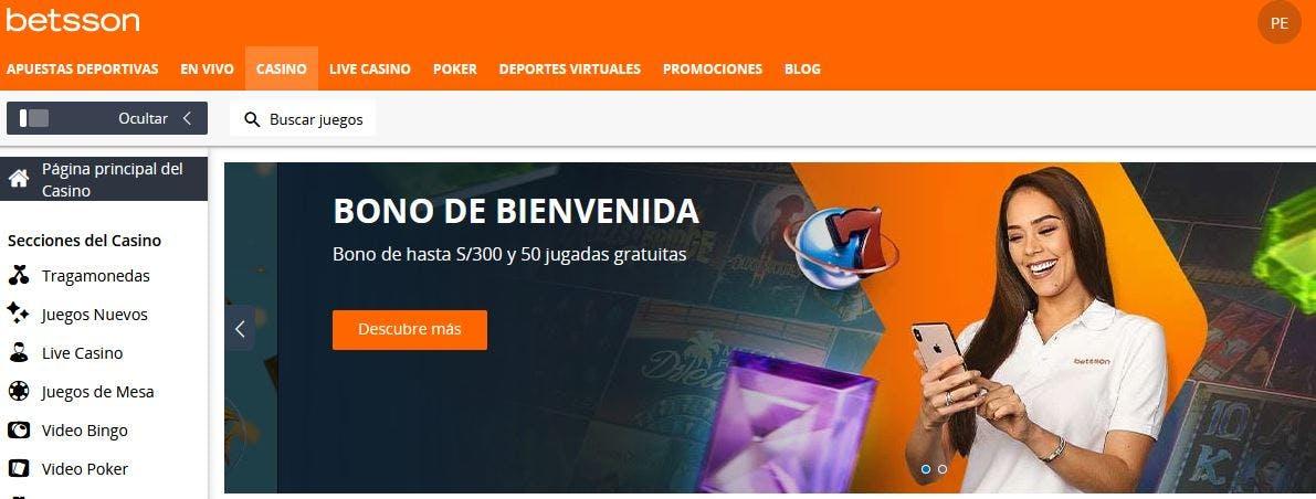 Betsson casino en linea en Perú