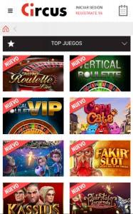 Descarga la aplicacion movil de Circus para Android o iPhone