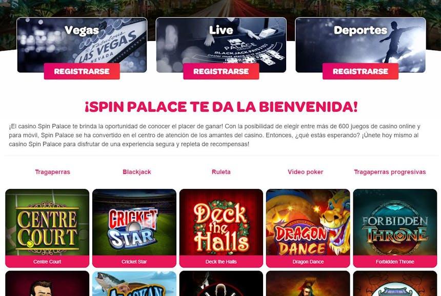 Juegos de casino de SpinPalace