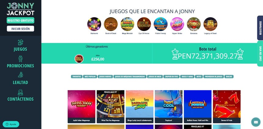 juegos de slot online en Jonny Jackpot