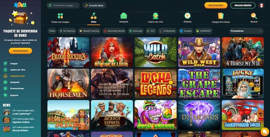 Juegos de casino de Roku Casino