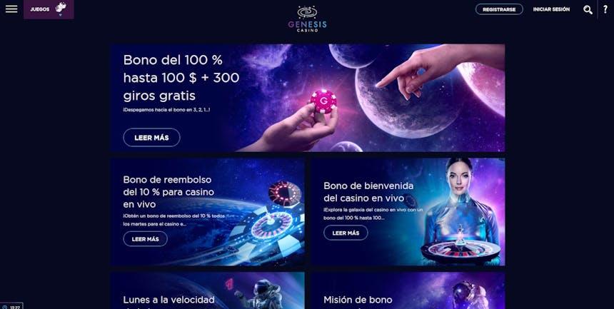 Genesis Casino bono e promozioni