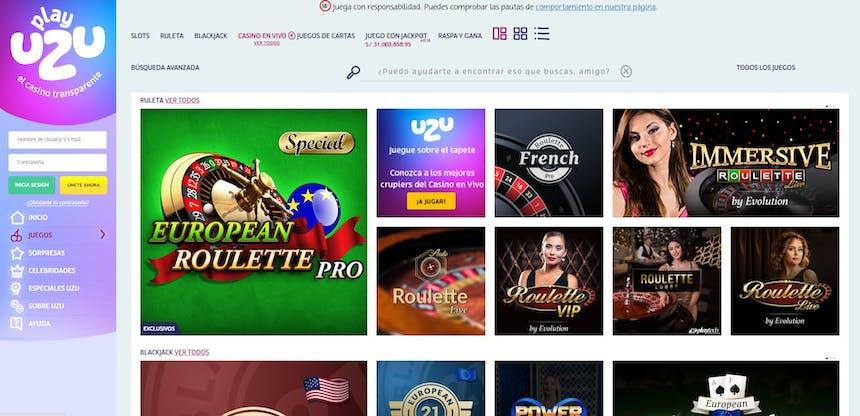 Casino en Vivi PlayUzu Perú